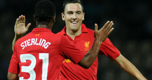 Stewart Downing celebrates with Sterling