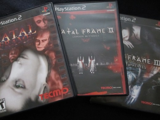 Fatal Frame, Fatal Frame II: Crimson Butterfly, and Fatal Frame III: The Tormented.