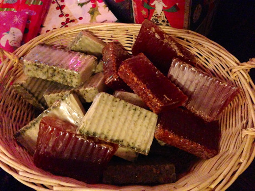 My soap gift basket