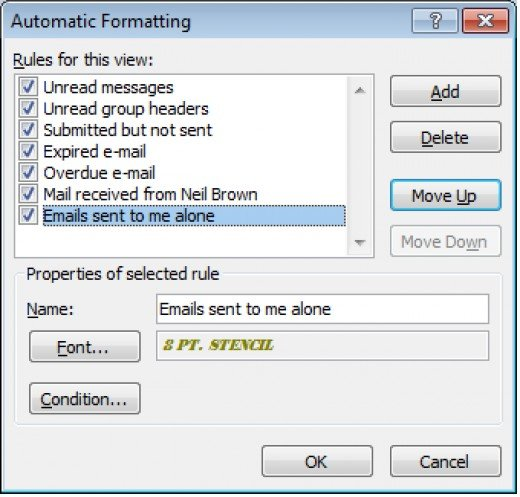 With my rules correctly ordered in Outlook 2007, the rules will behave as expected.