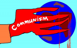 Communism was at first seen as a bigger threat than the Nazis.