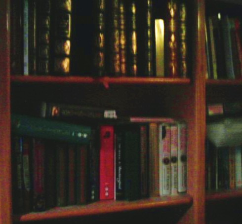 The personal reference library.