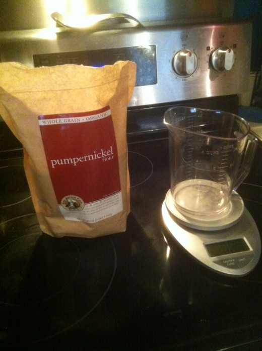 Pumpernickel flour is a good starting point for sourdough starter.