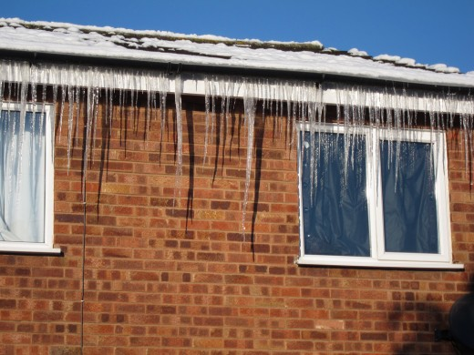 Icicles hanging from the eaves are a common sight in winter, but they can prove costly!