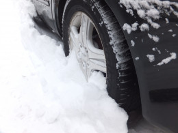 Be prepared to free your tires of snow and ice.