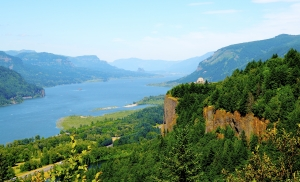 Columbia River Gorge National Scenic Area between Oregon and Washington.