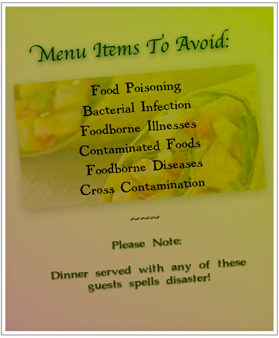 Oh, the many names of food poisoning!