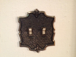 Vintage dual light switch plate cover