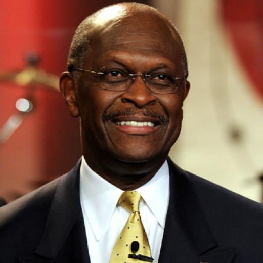Herman Cain, GOP presidential nominee.
