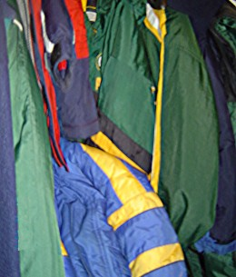 Parkas don't wear out much, so they get handed down a lot.  I hear there are families who need coats, and when we have time to get organized, we'll give them 10 or so of ours!