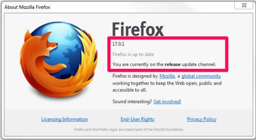 Figure 3.2 Firefox Version