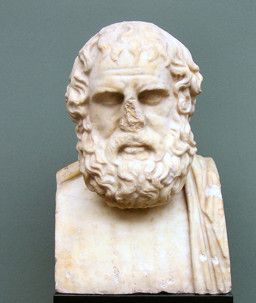 Bust of Euripides, the famous Greek tragedian