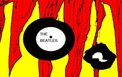 Melting Beatles records.