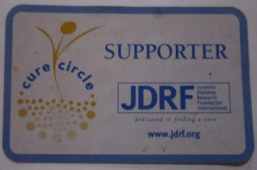 JDRF supporter magnet