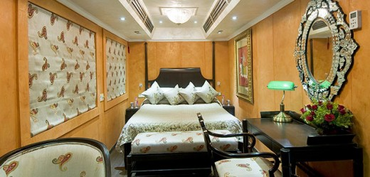 Spacious Gust Cabins add to the appeal of luxury train travel