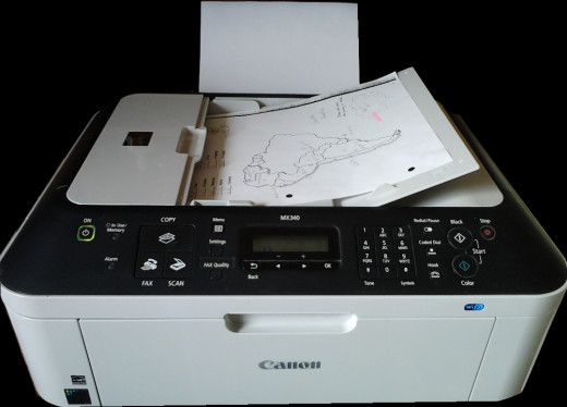 MX340 Scanner Copier  $70.00 US