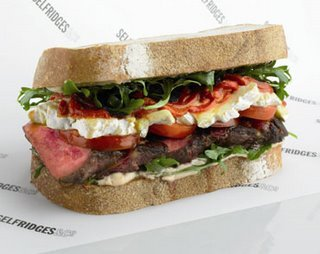 "The ""MacDonald"" (named for a chef), is one of the world's most expensive sandwiches. For $170, you get wagyu beef, fresh lobe foie gras, black-truffle mayonnaise, brie de Meaux, arugula, red pepper and mustard confit, and English plum tomatoes."