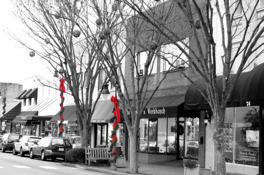 Waynesville, NC at Christmas