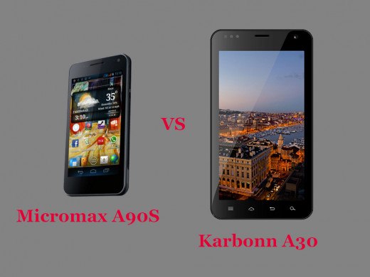 Micromax Superfone Canvas 2 A90S vs Karbonn A30 Ta-FONE