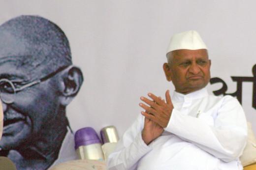 Anna Hazare on Fast unto Death
