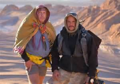 Cody Lundin (left) and Joe Teti at the Atacama Desert in Chile