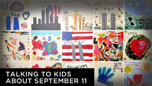 A collection of paintings by children for the Art for Heart 9/11 exhibit at the Port Authority of New York & New Jersey in Sept. 2006. (Photo: Marc Love/Flickr)