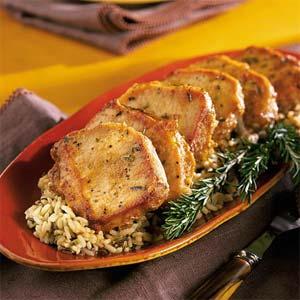 Final Pic of the recipe- Golden Pork Chops