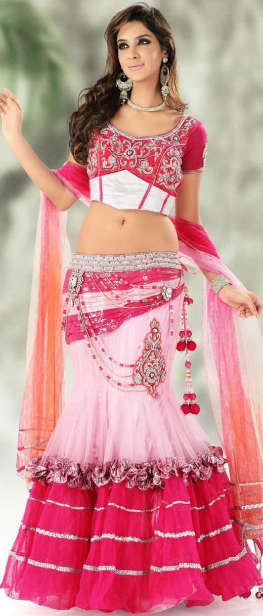 Chic Choli with Long skirt