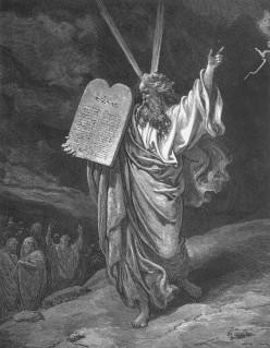 Moses Showing the Ten Commandments, Gustave Doré (1832-1883)