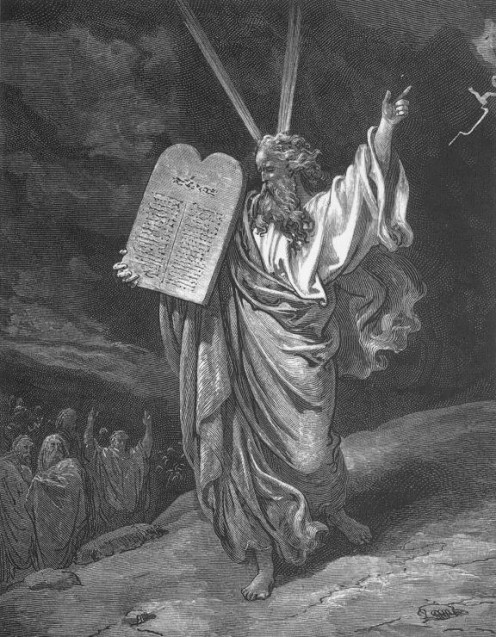 Moses Showing the Ten Commandments, Gustave Doré (1832-1883)