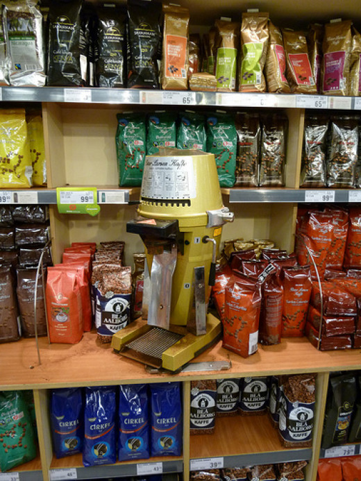 There are many varieties and grinds of coffee available in stores today.