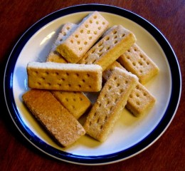 Shortbread a traditional Scottish new year treat.