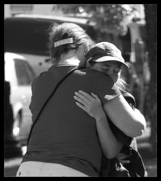 Hugging a homeless lady in Salt Lake City, UT