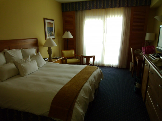 Guest Room at the Renaissance Aruba Marina Hotel