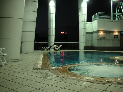 Rooftop swimming pool with jacuzzi
