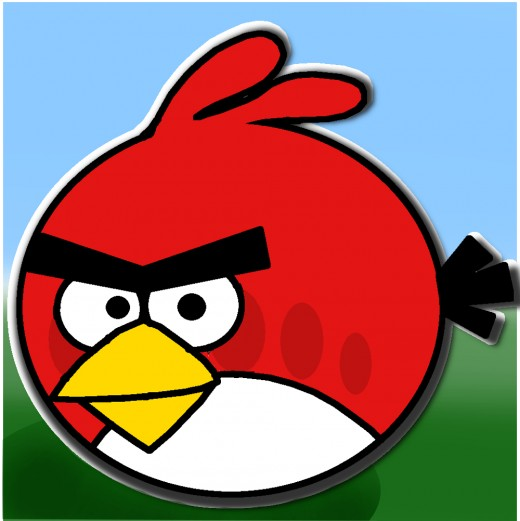 The finished Red Angry Bird image.