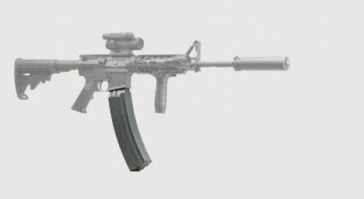 AR-15 with 100 Round High Capacity Magazine