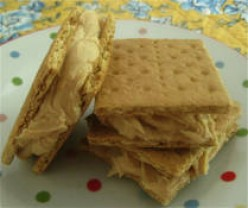 Fast and Easy Recipes for Kids - Graham Cracker Sandwiches