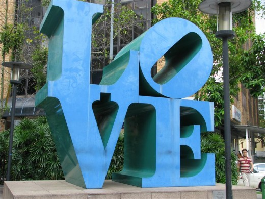 """The words """"Love""""."""