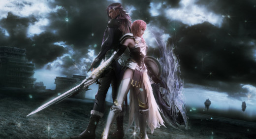 Screenshot from the first part of Final Fantasy 13-2