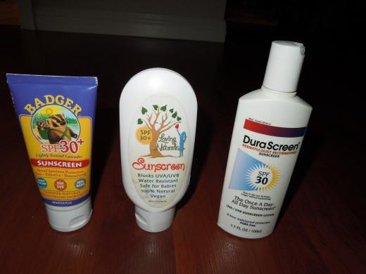 Badger sunscreen, Loving Nature sunscreen, DuroScreen