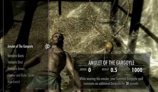 Skyrim Get the Amulet of the Gargoyle