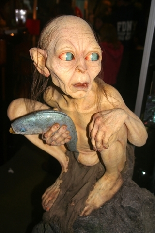 Gollum sculpture in the film studio in Wellington, New Zealand. Used by permission.