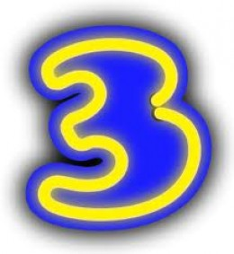 This hub is brought to you by the number three.