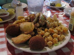 Some of the delicious seafood combinations  we experienced while in New Orleans.