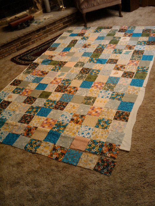 A quilt made up of squares is a quick and easy quilt to make, making it ideal for beginners.