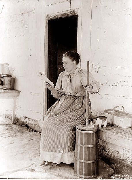 Hand churning butter can take up to forty minutes of manual manipulation, not including the waiting periods in between.