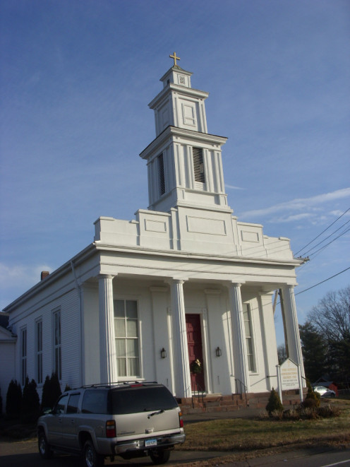 A church along Route 168, in Connecticut.