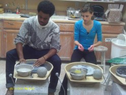 Pottery Studio:  A Beginner Lesson Working with Clay