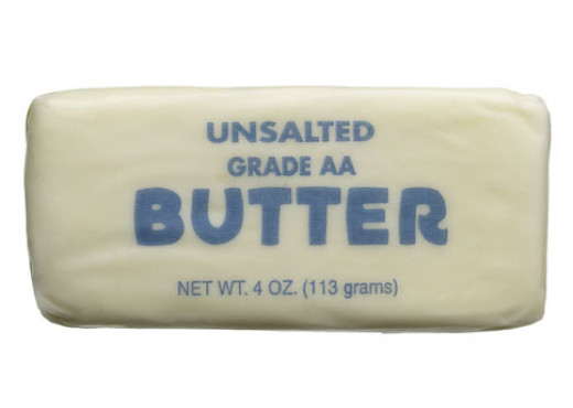 After butter production in the US switched from farmhouses to factories, the stick and blocks we associate butter with today began being produced